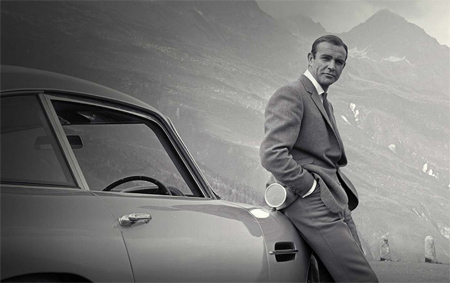 The Real James Bond with his Aston Martin