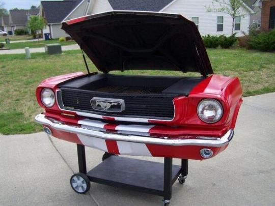Mustang Sally ~ Portable BBQ on Wheels.