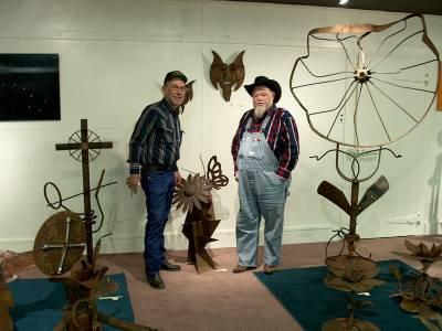 Junk Yard Art Exhibit in Meade County Historical Museum