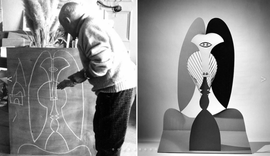 Picasso sketching his Metal Art Project