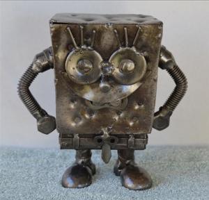"Sponge Bob 5"" courtesy of Scrap Sculptures"