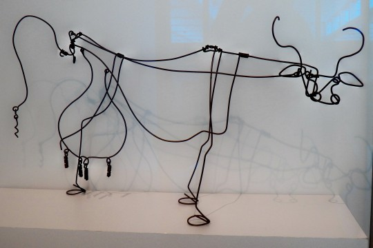 Picasso Cow Metal Art