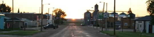 Main Street, Regent, North Dakota.