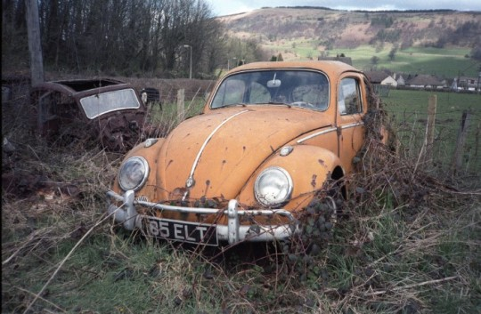 This VW relic was found near the sleepy town of Talybont, Wales. in 1986